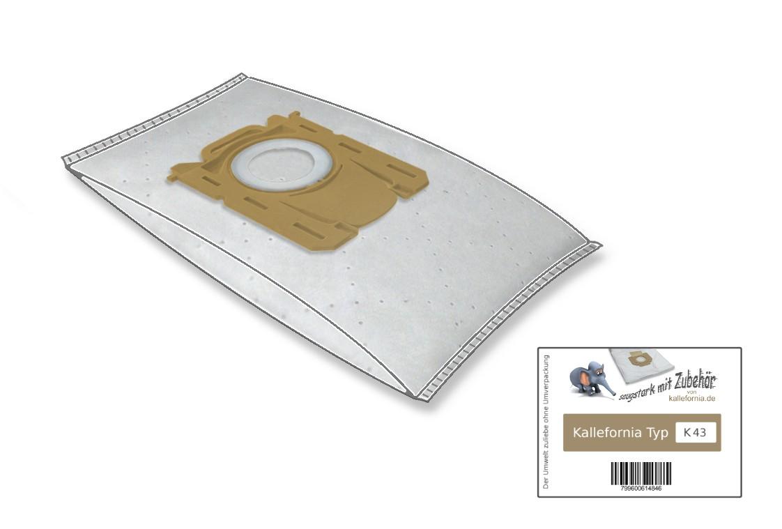 10 Staubsaugerbeutel 1 HEPA Filter geeignet für PHILIPS Performer FC 9172